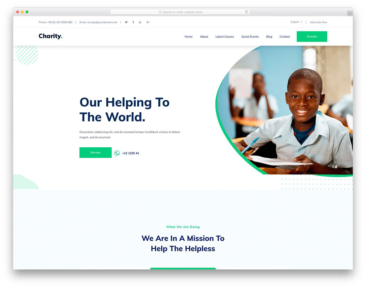 spotless charity website template