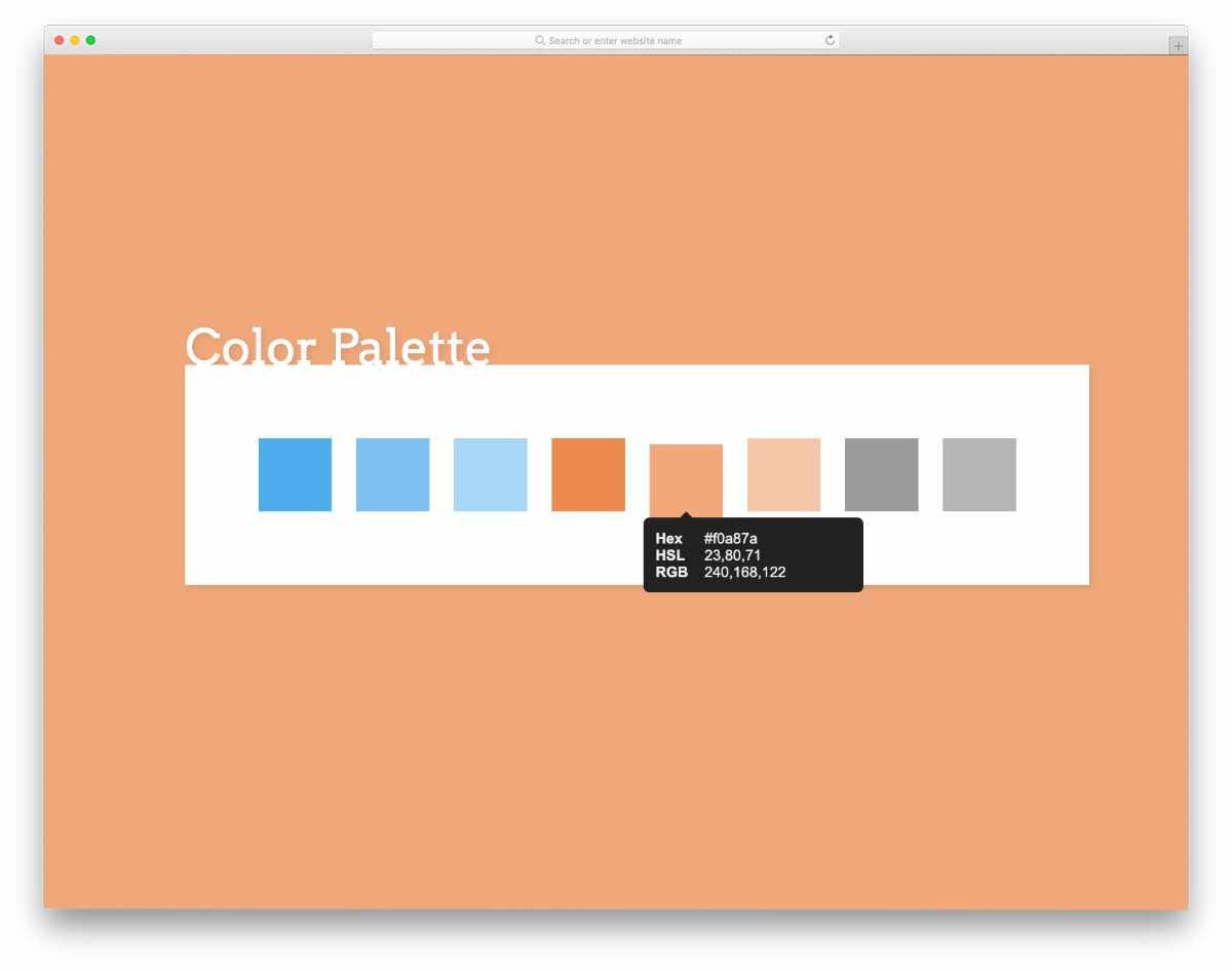 simple yet useful color palette design