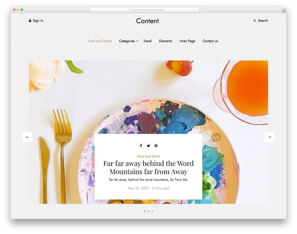 simple and elegant blog template