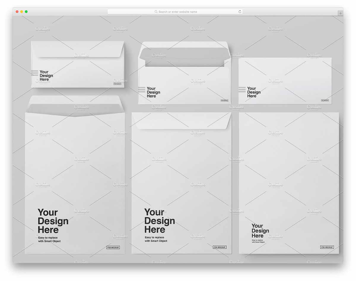DL and C4 size envelope mockups