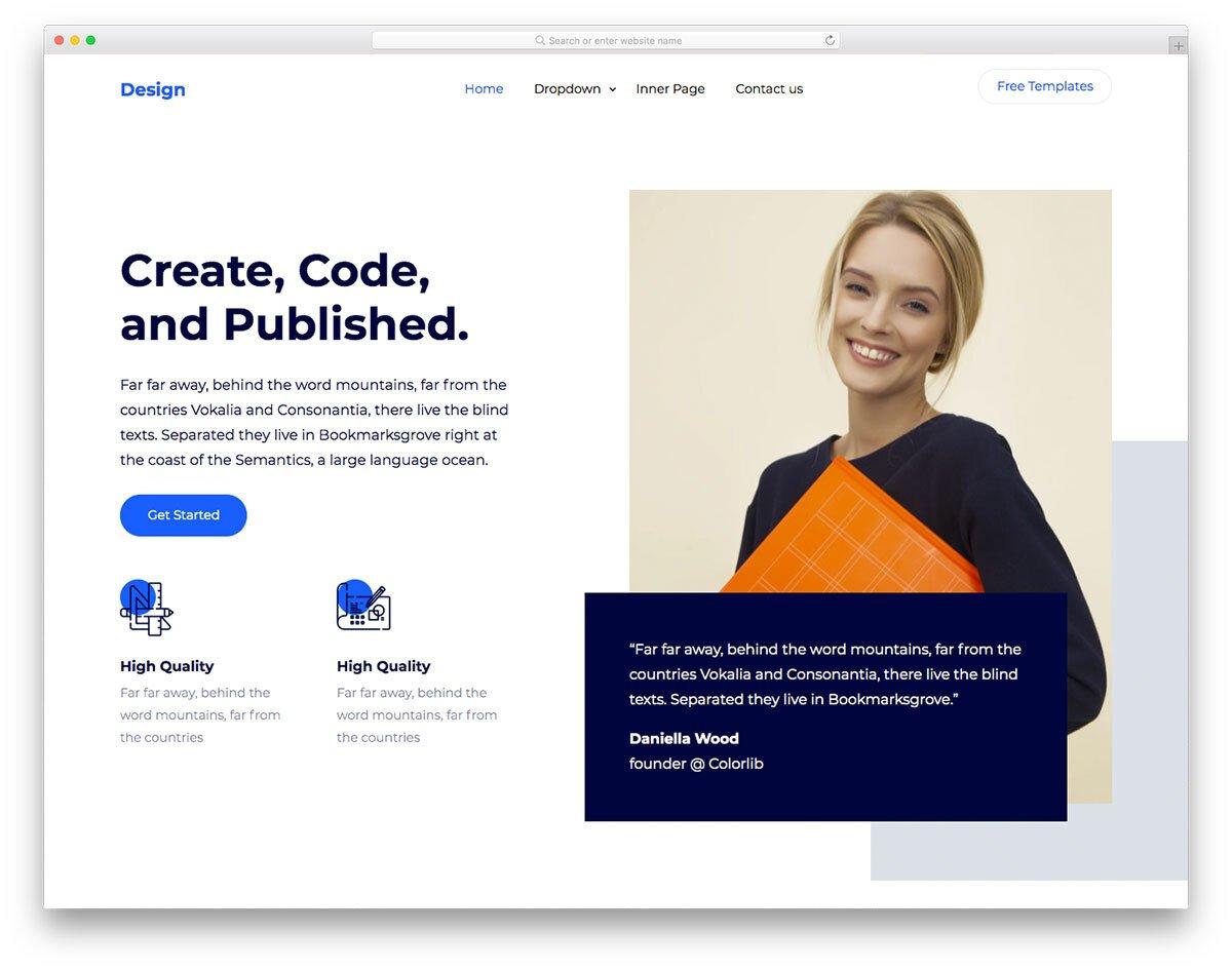 software business website template