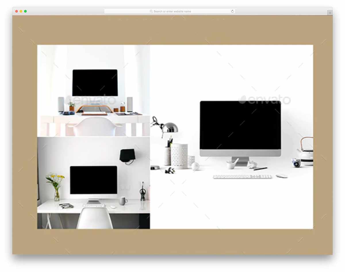 iMac computer mockup bundle