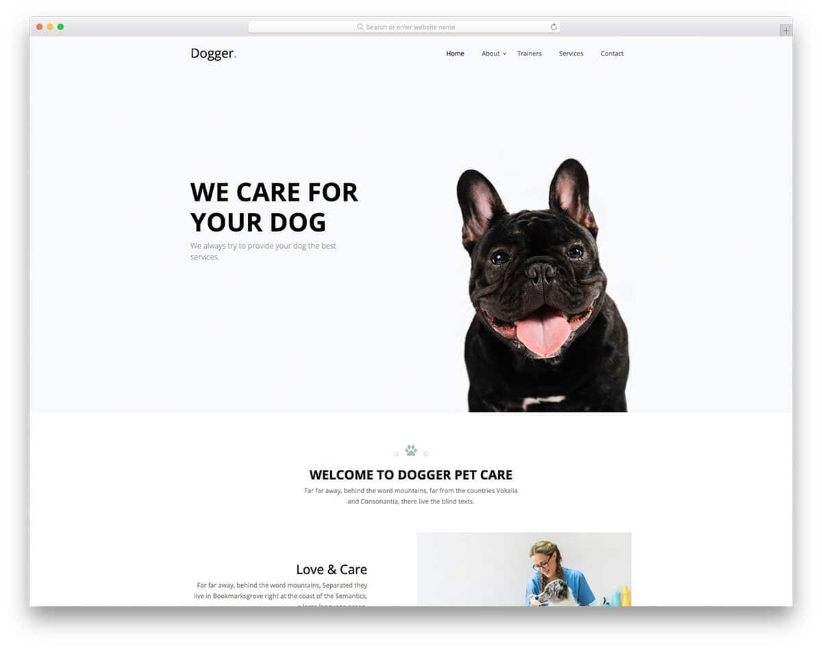 pet store and pet care website template