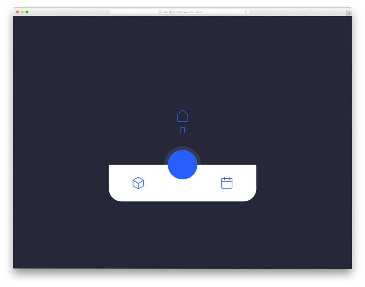 animated bottom navigation bar