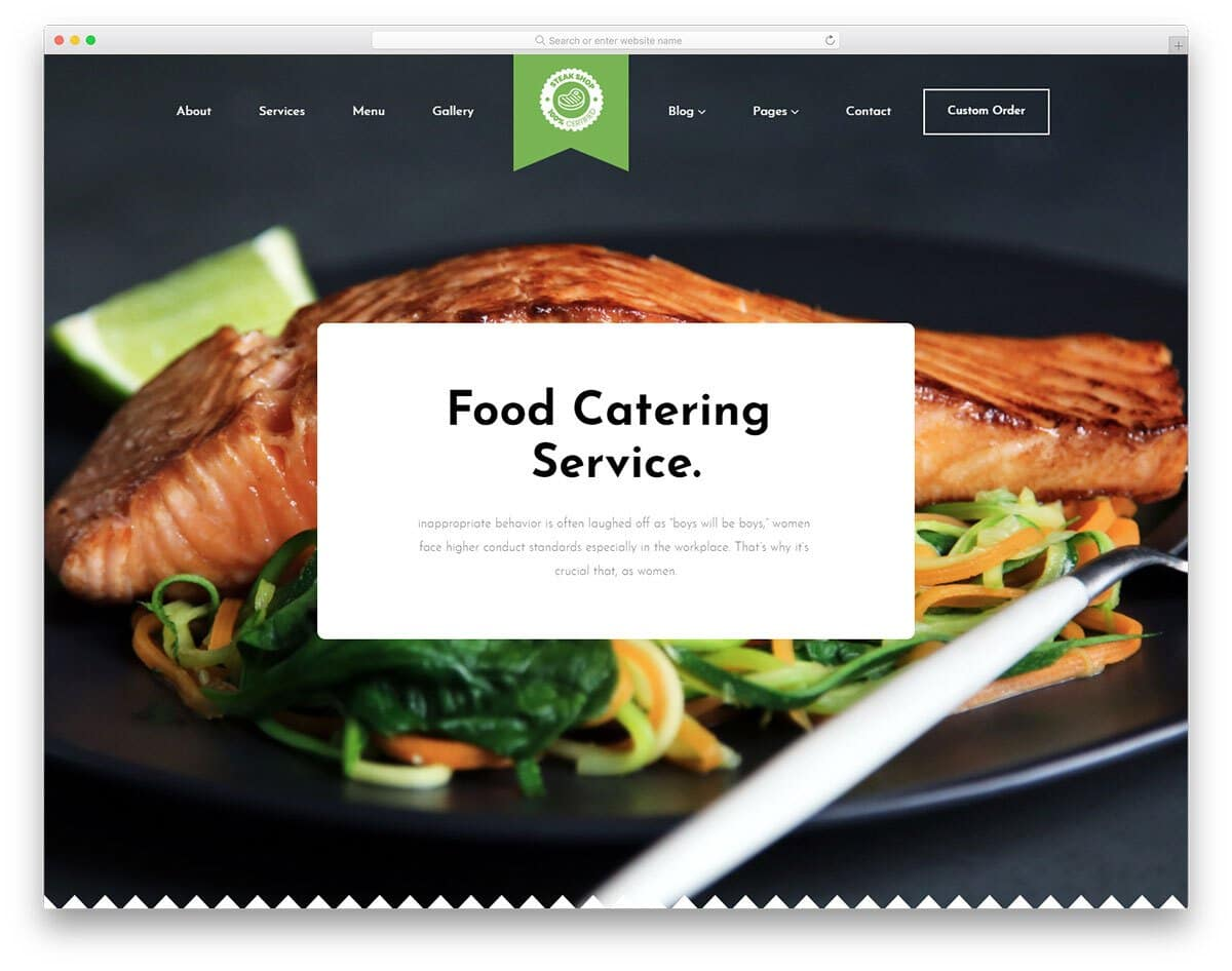 restaurant and catering services website template