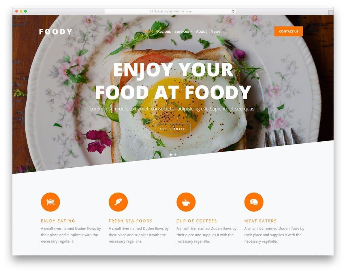 minimal content-focused website template