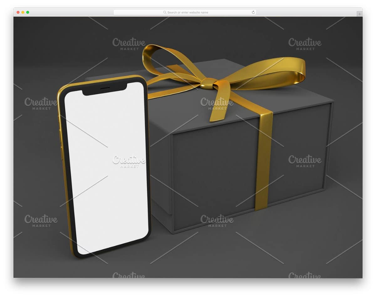 iPhone present mockup