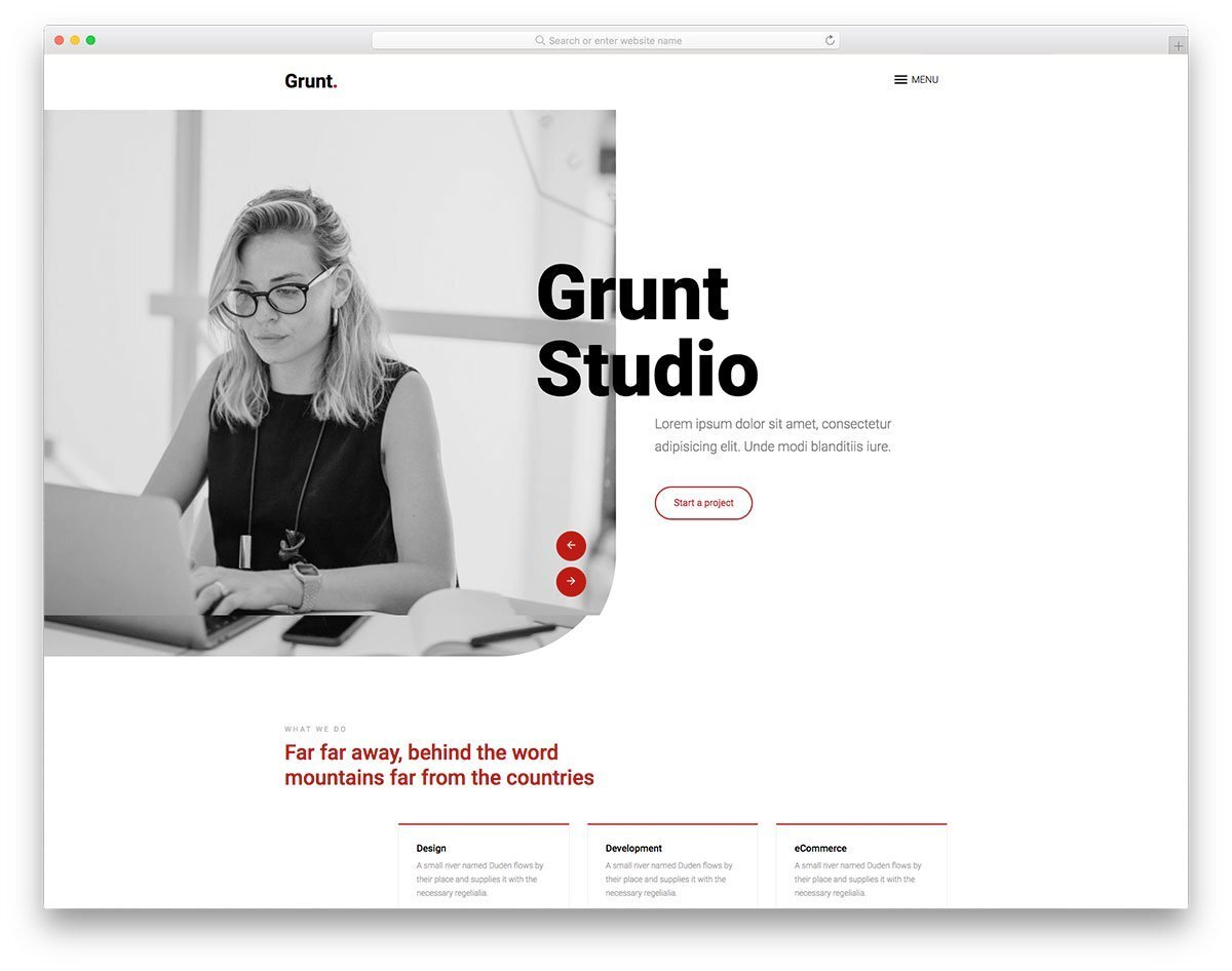 landing page for agencies