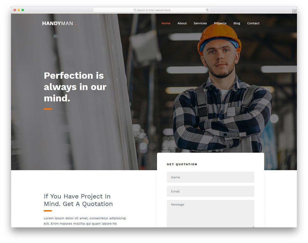 clean interactive website template
