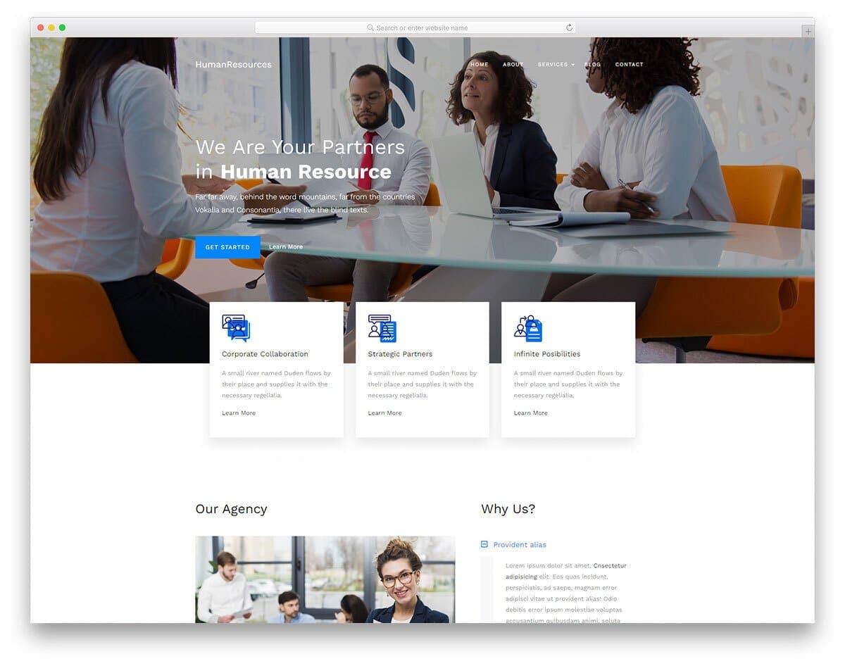 human resource service business website template