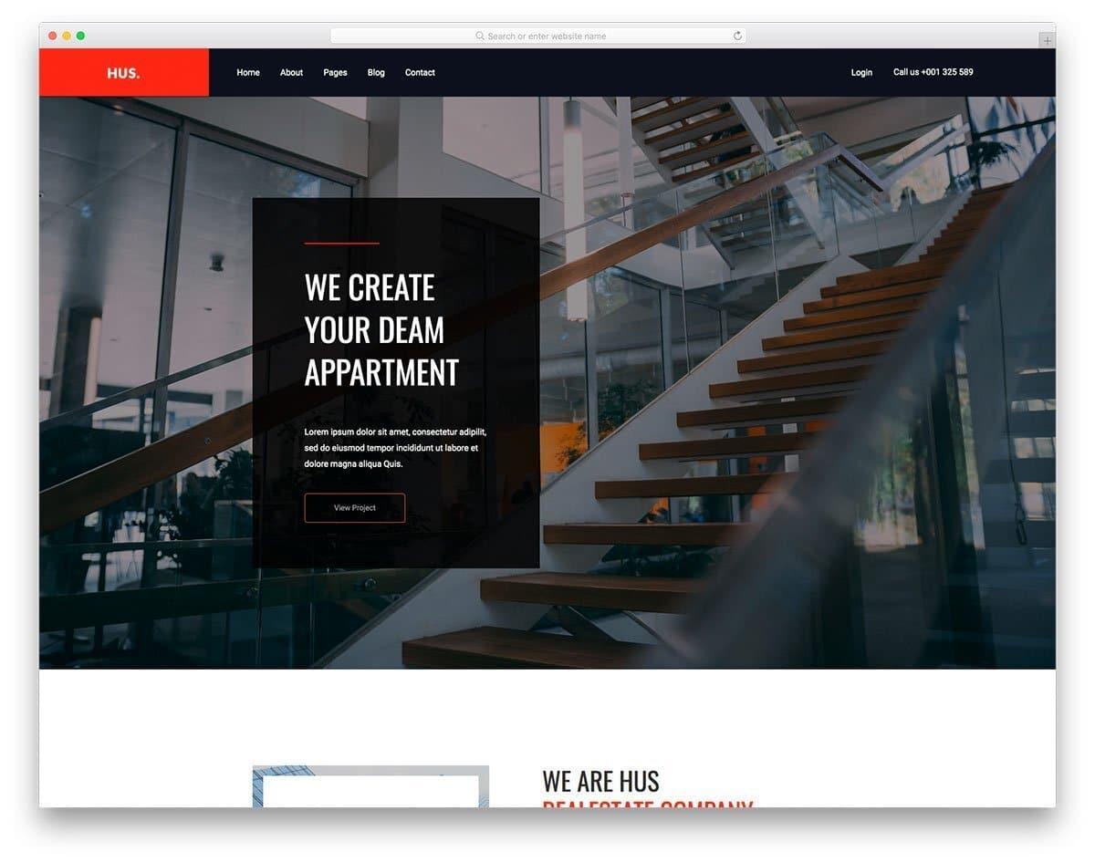 modern real estate website template