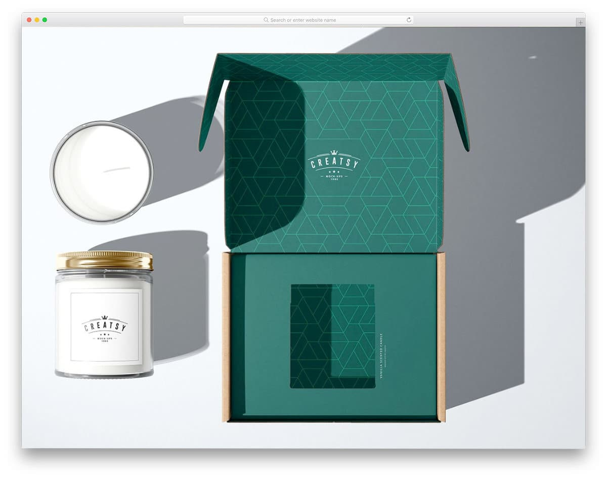 special packaging box mockup