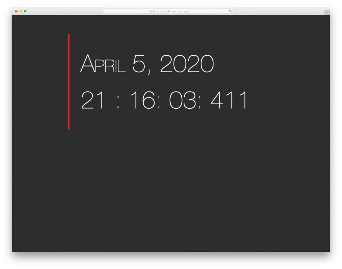 simple and easy-to-use clock