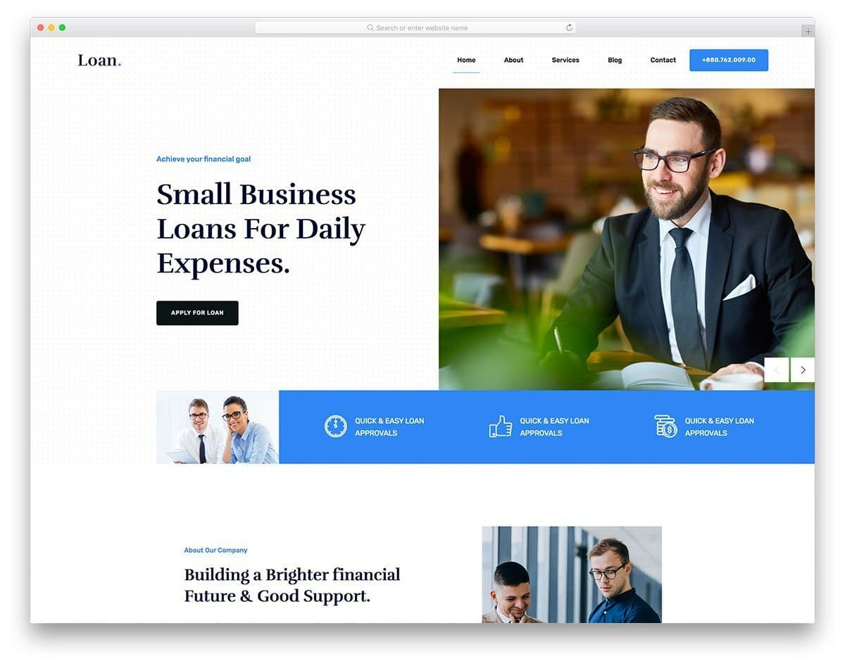 finance and loan website template