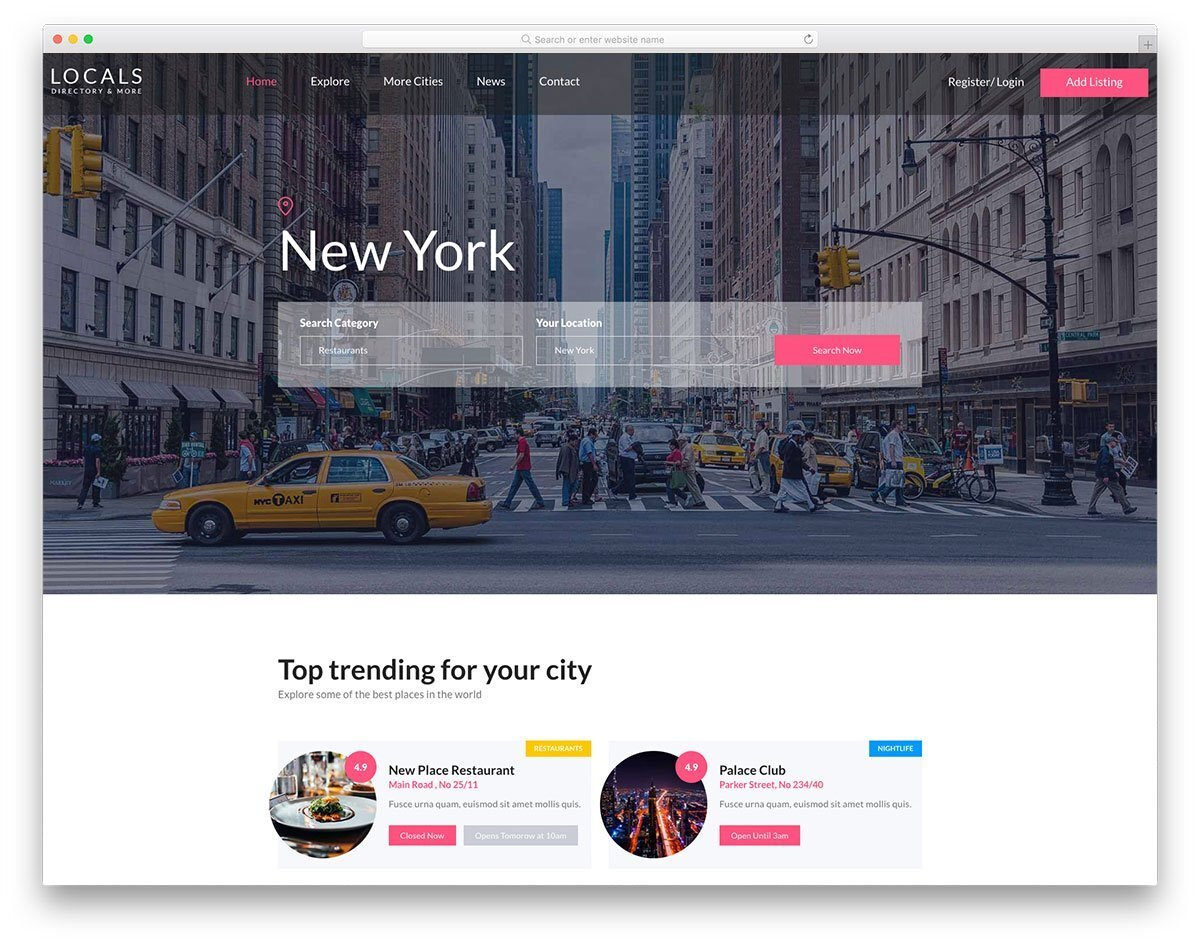 website template with friendly features