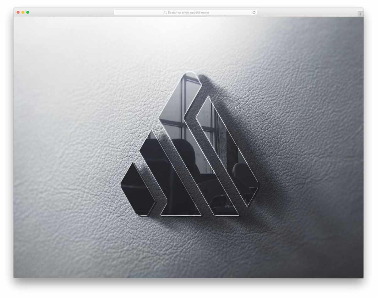 3D reflective logo mockup