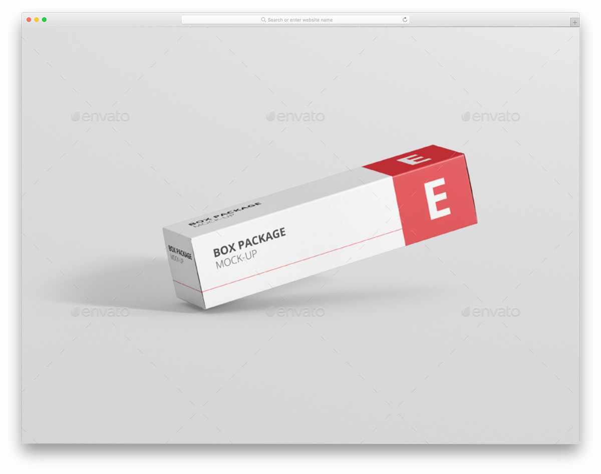elongated rectangular box mockups