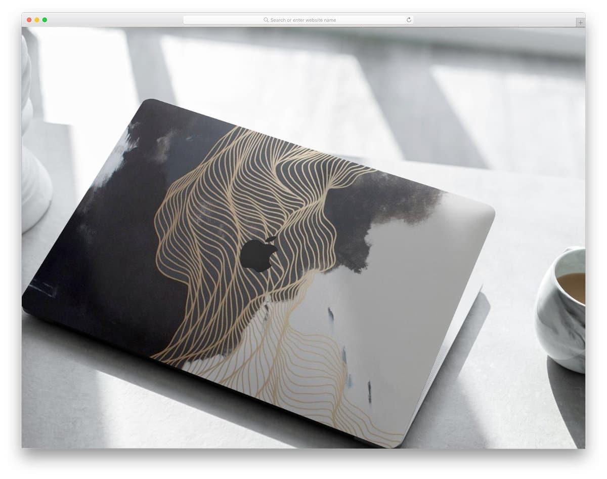 macbook mockup for skin designs