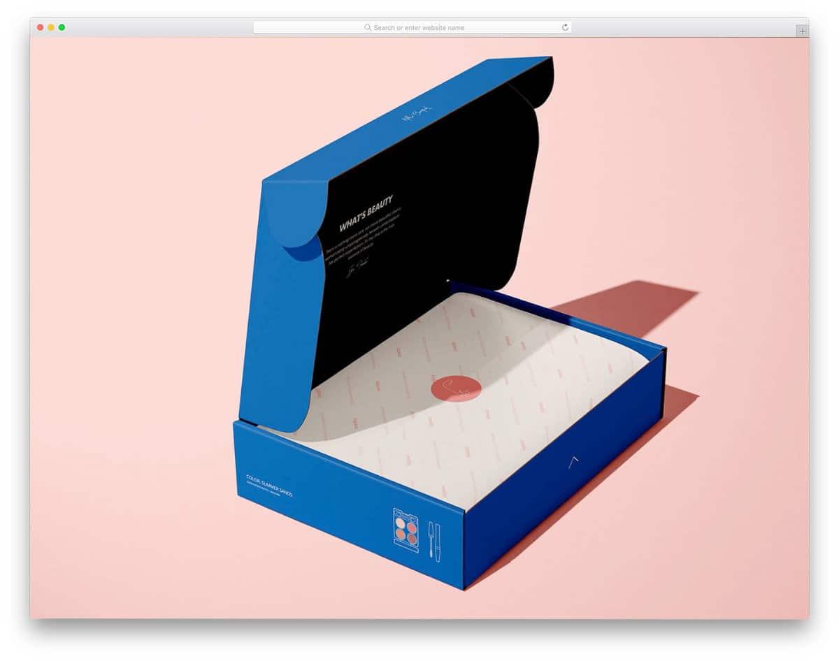 realistic 3D box mockup
