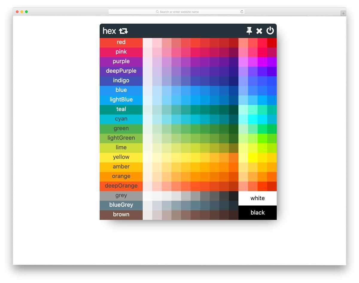 color palette widget design