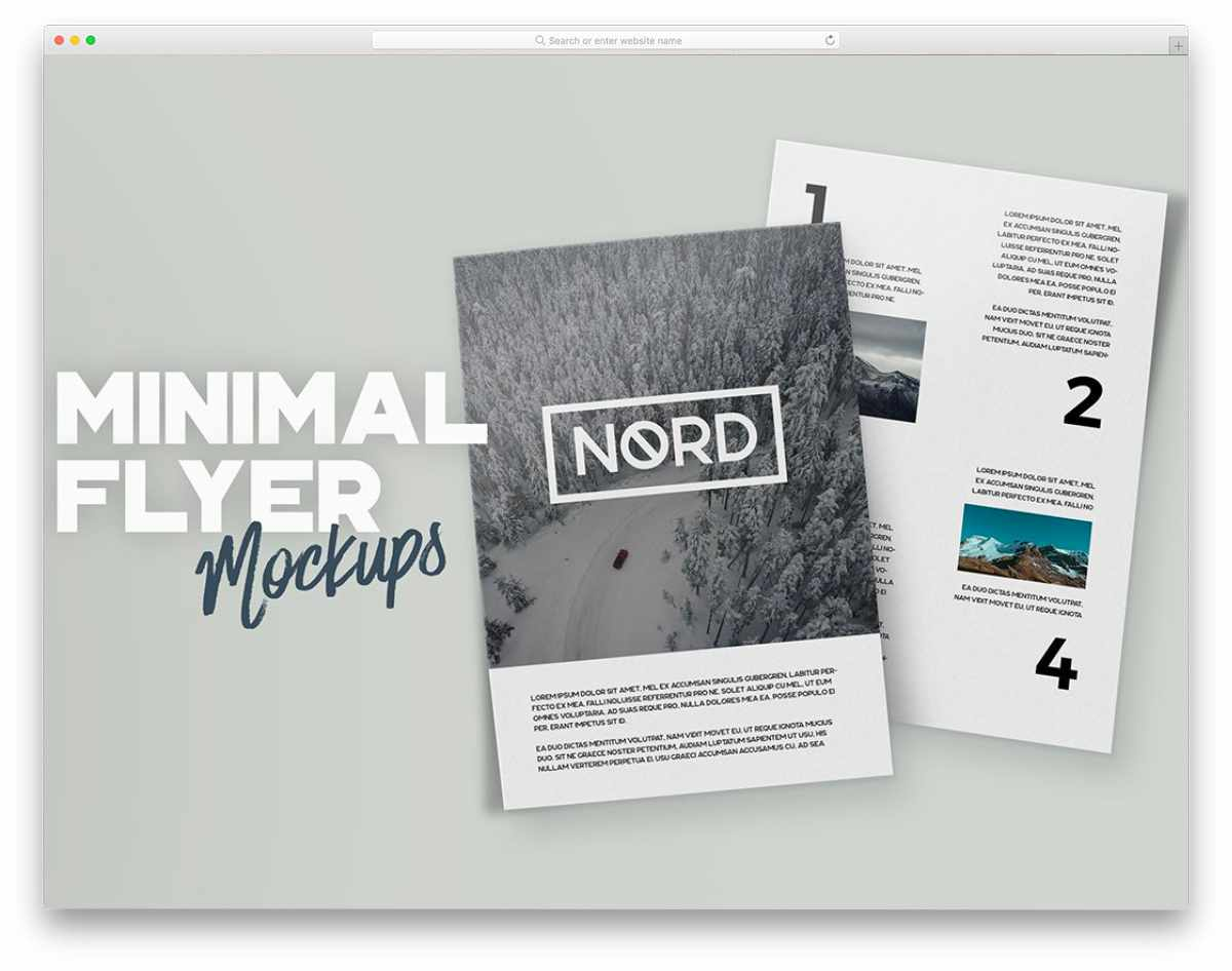 minimal and easy-to-edit flyer mockups