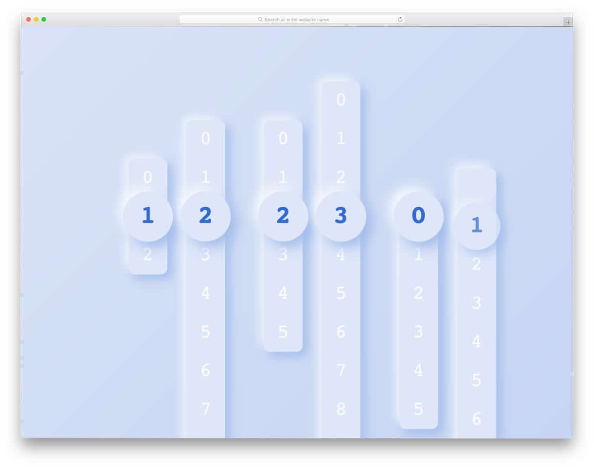 creative HTML clock design