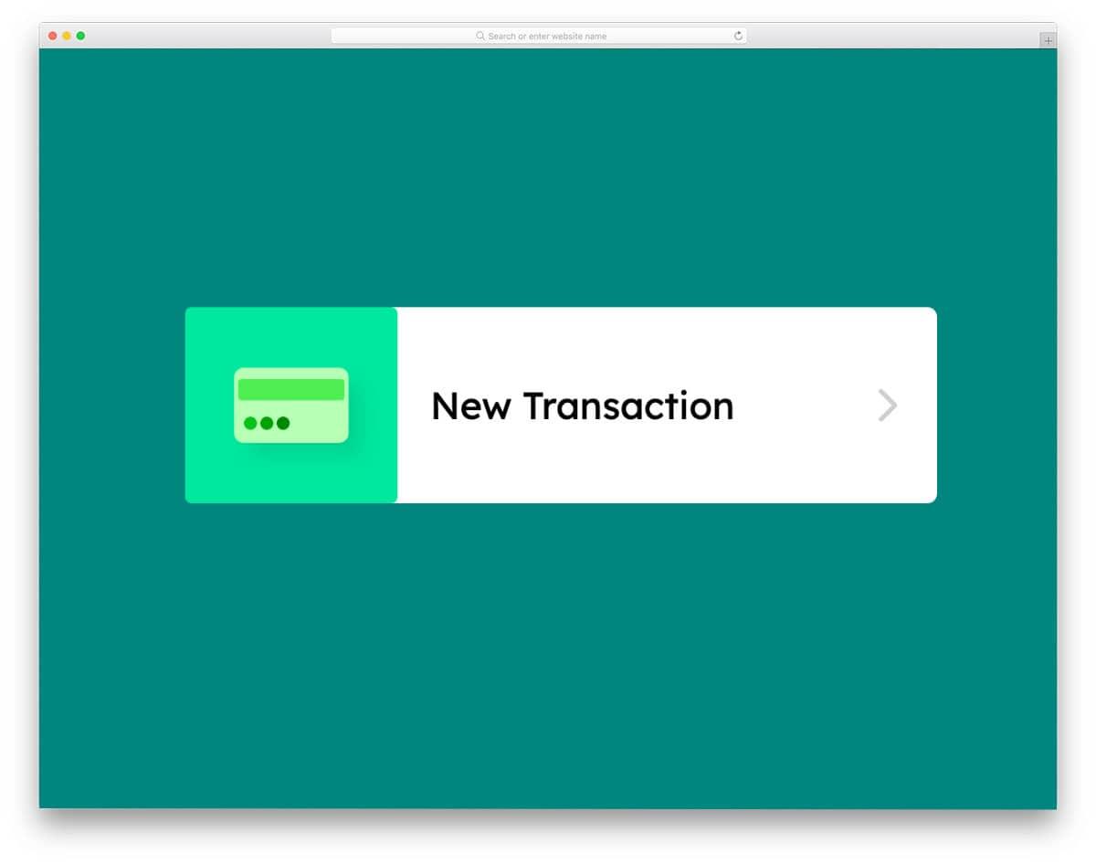 transaction button animation concept