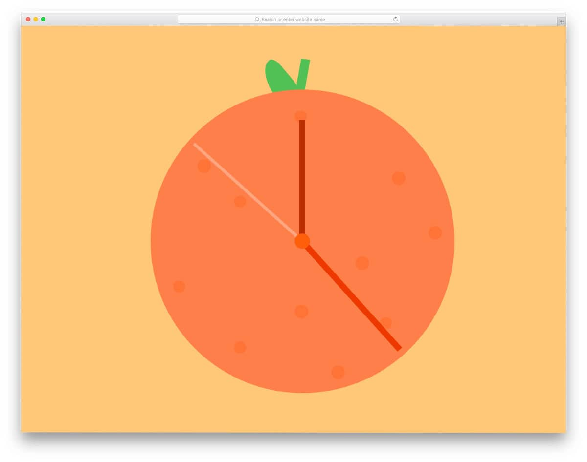 responsive HTML clock
