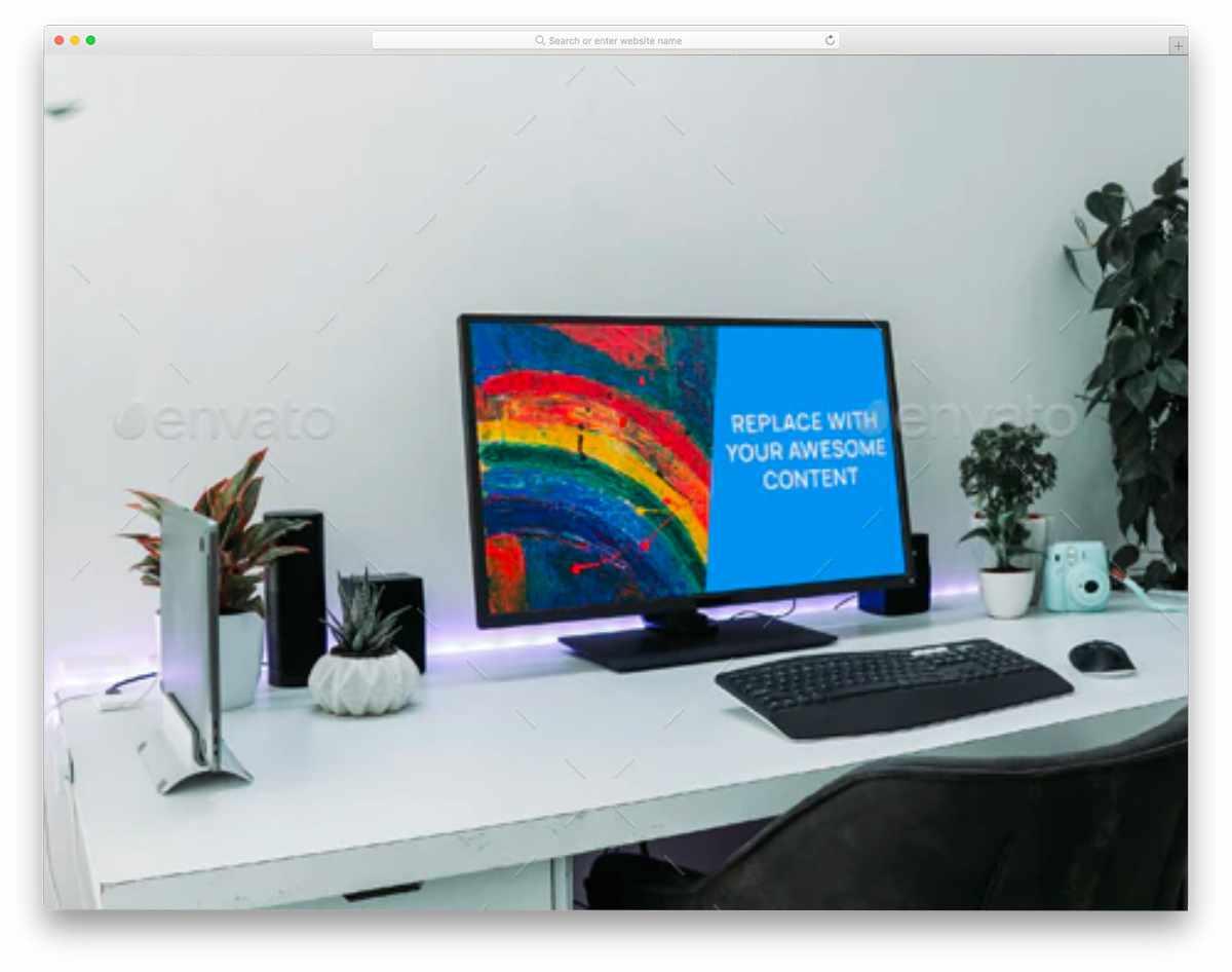 simple PC monitor mockup