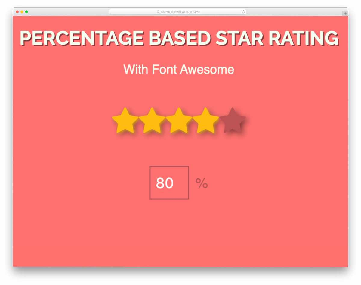 star rating with percentage input option