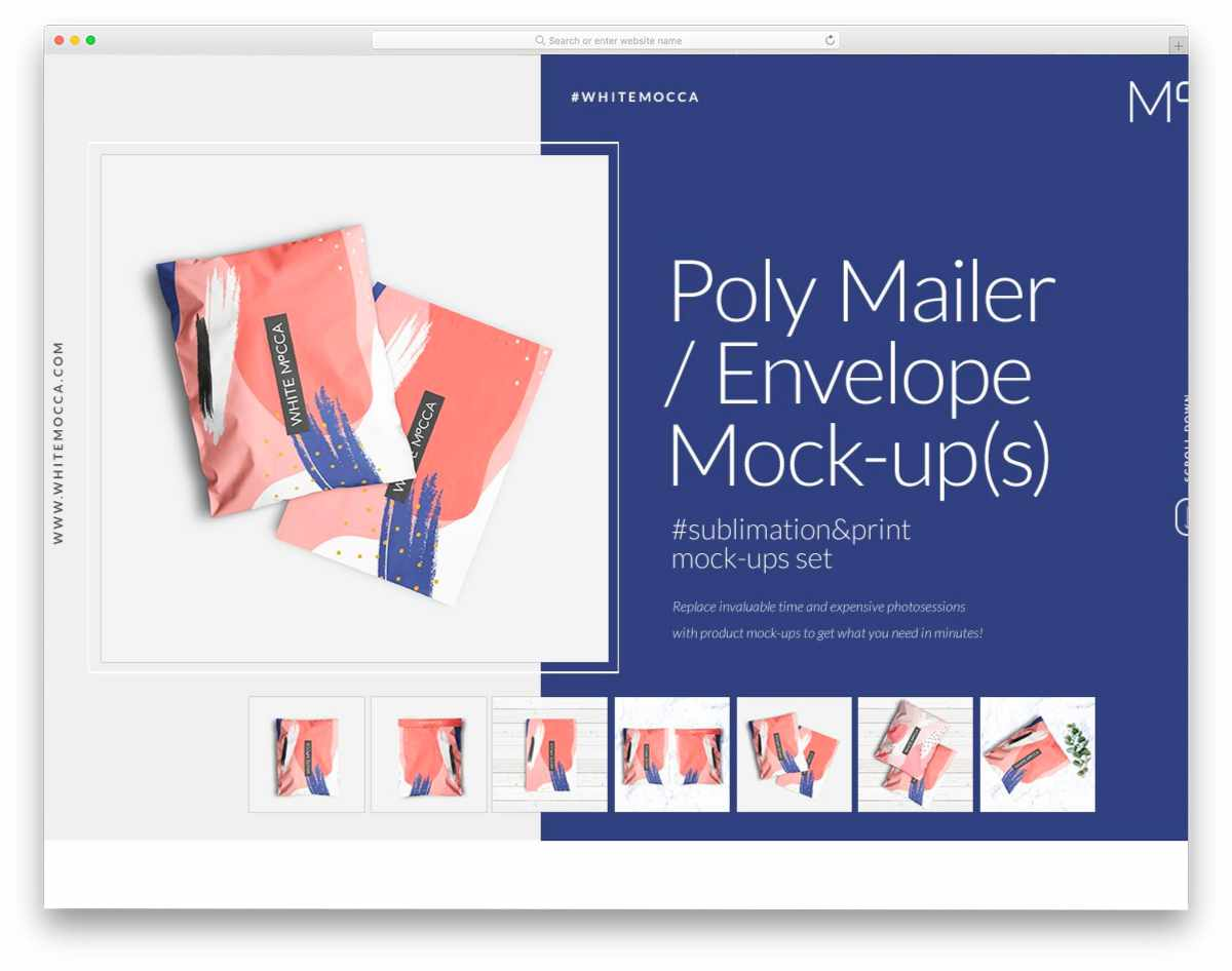 poly mailer envelope mockup set