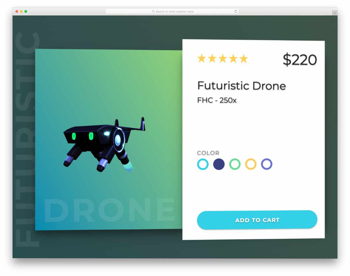 interactive product card