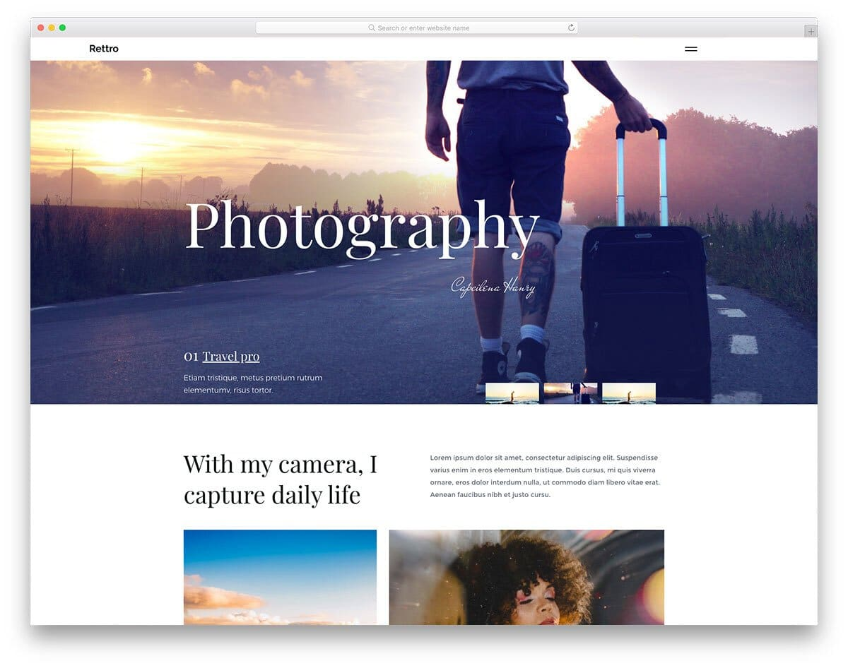 business-class photo agency website template
