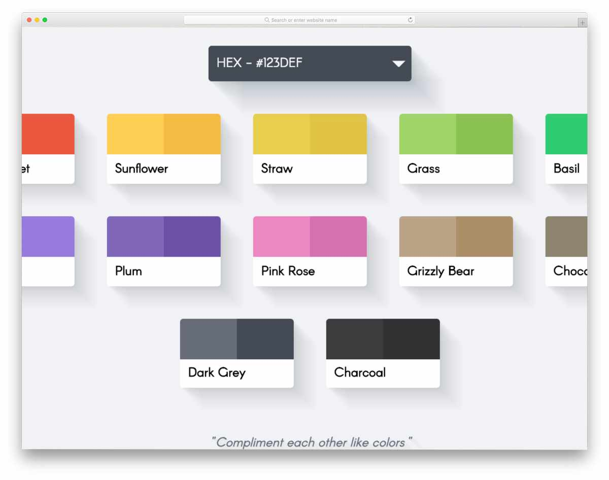 animated color palette design