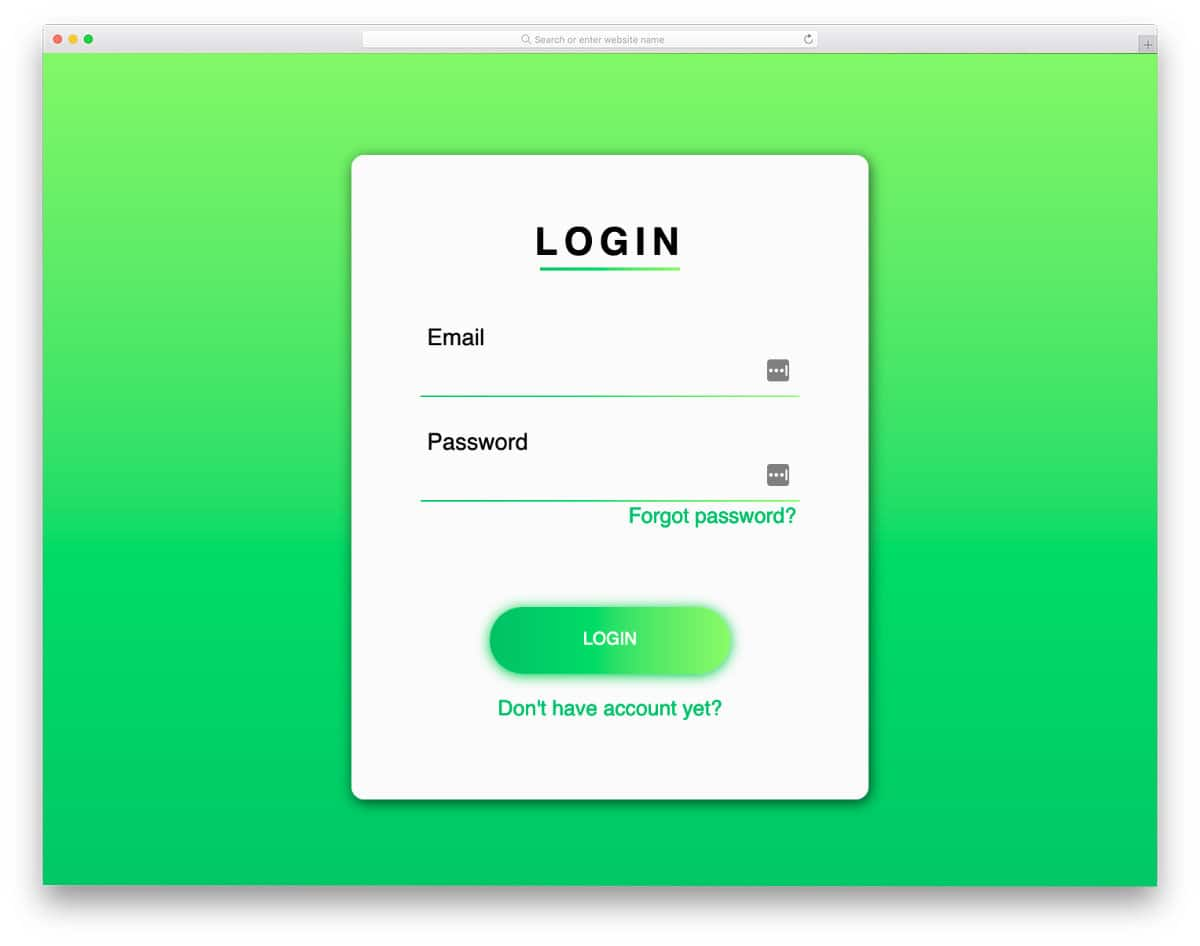 gradient button example for login cards