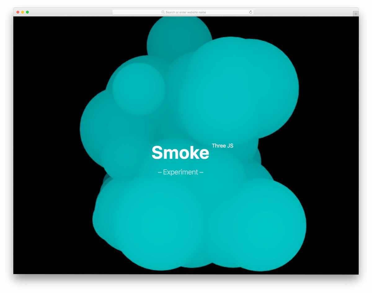 simple smoke threeJS design