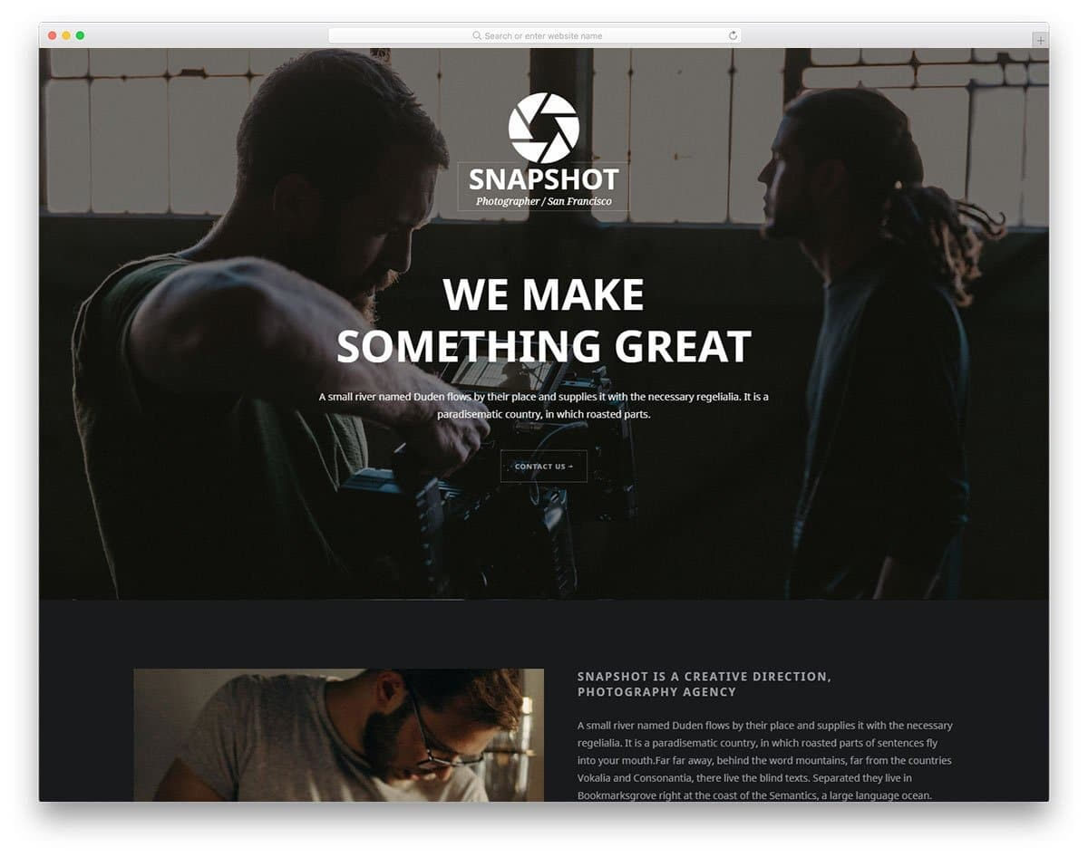 photography website templates for studios