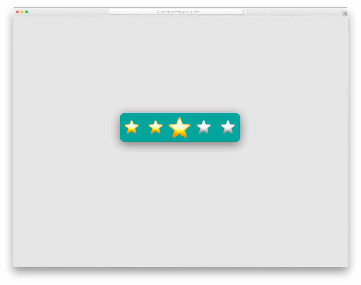 star rating widget-style design