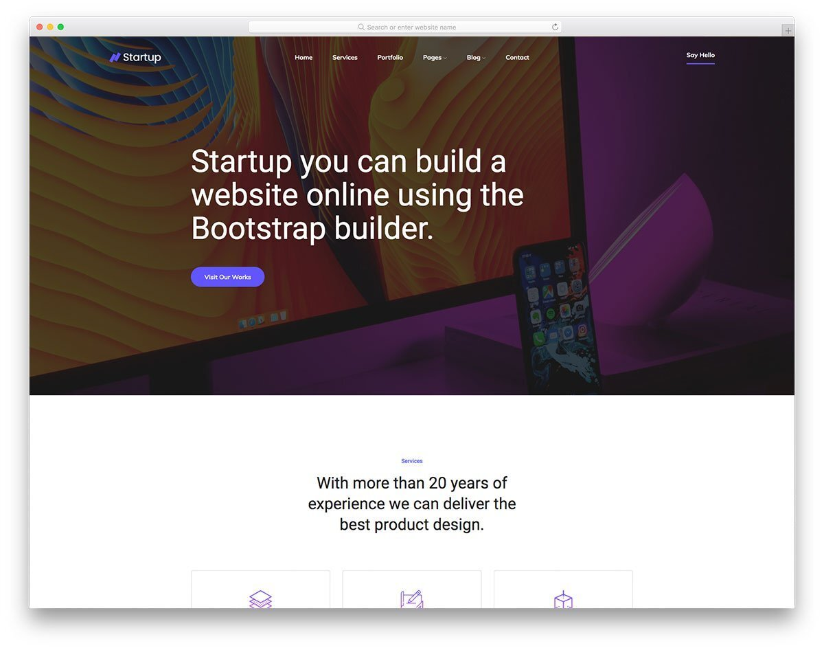 simple neat landing page design