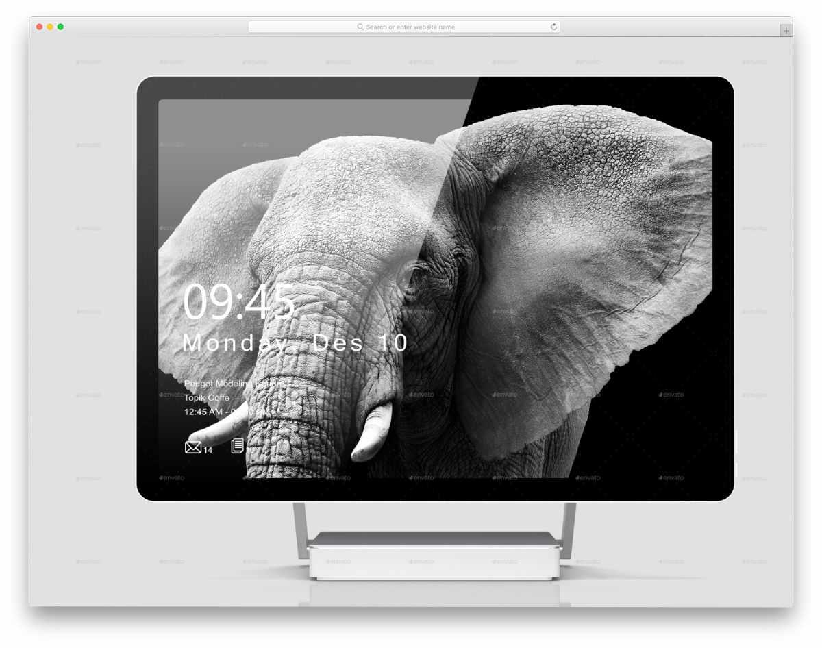 elegant Surface Studio mockup