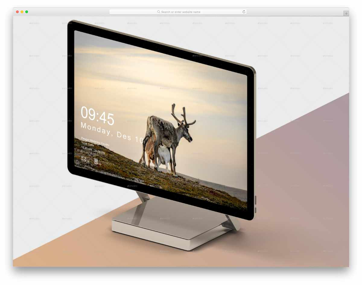 easy-to-customize surface studio mockup