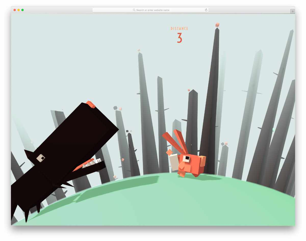 interactive game developed using threeJS