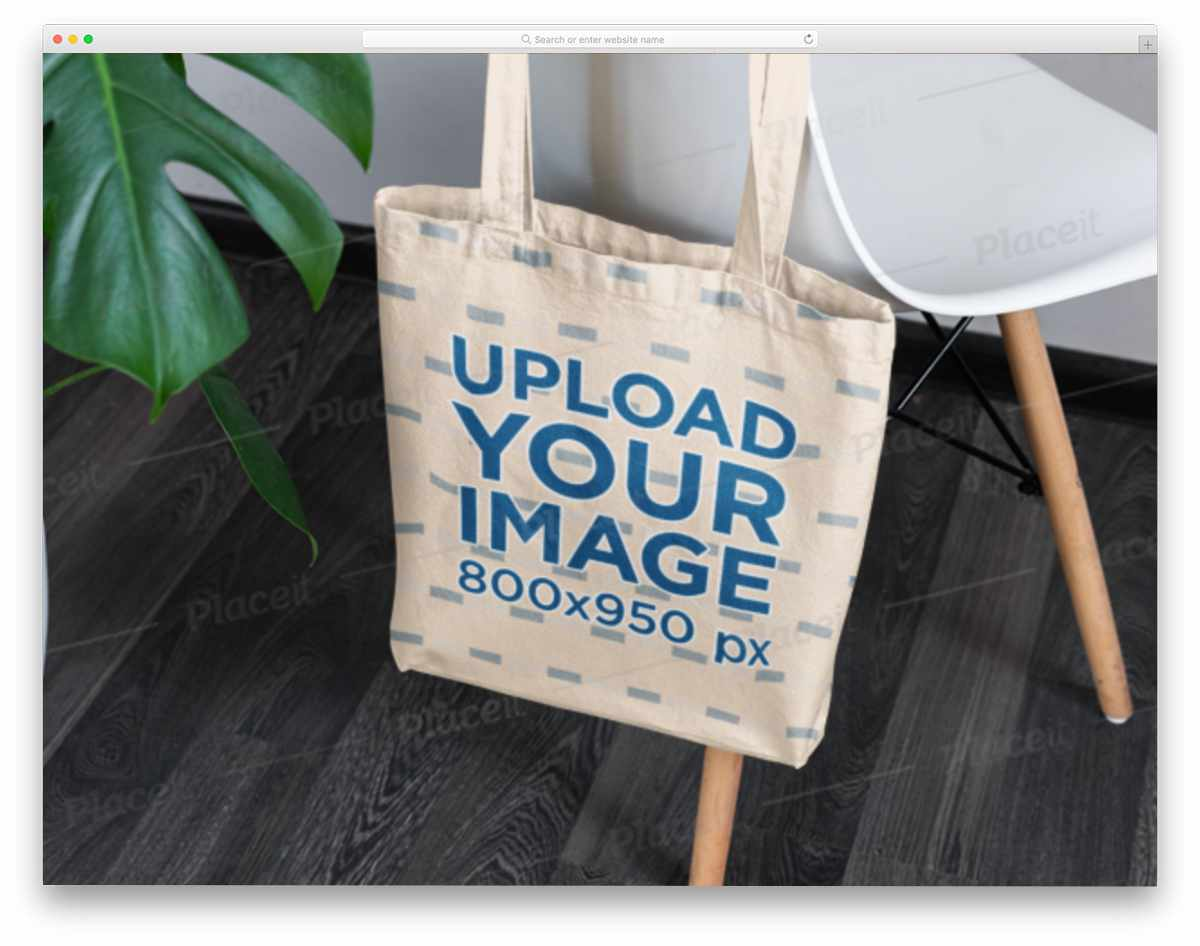 tote bag on a chair
