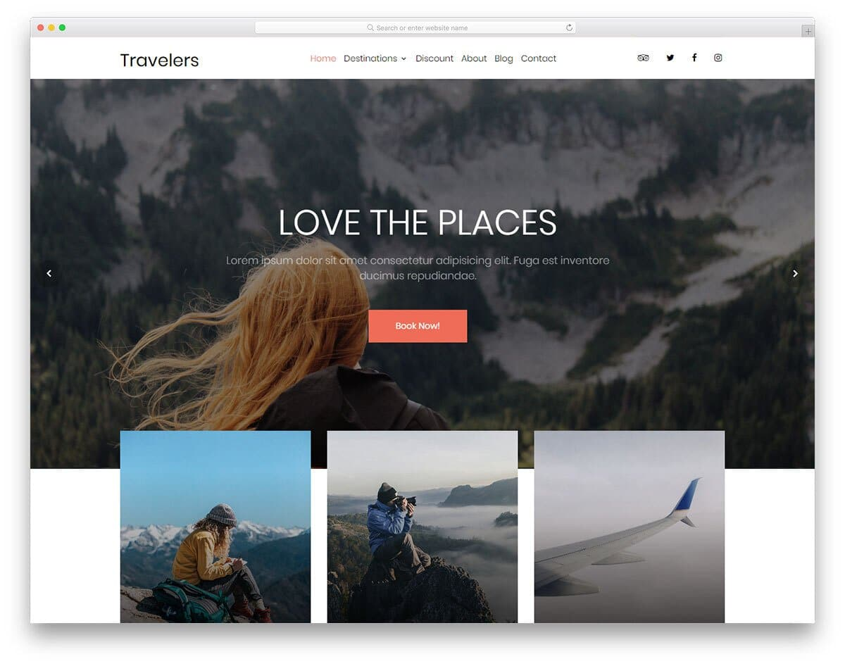 directory website template for travel and tour sites