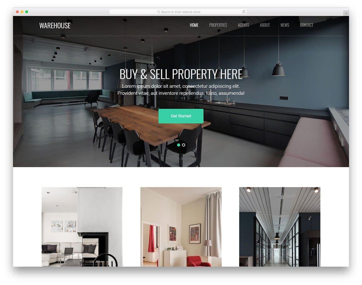 image-rich website template