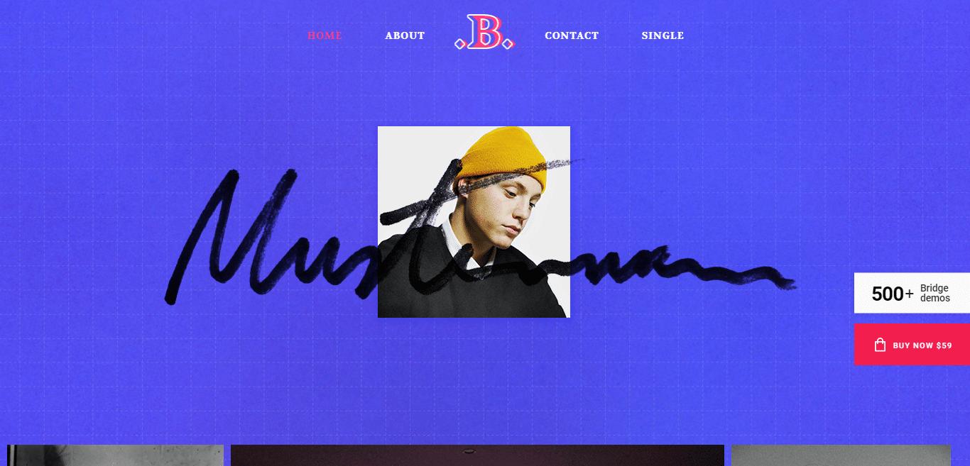 bridge-gallery-website-template