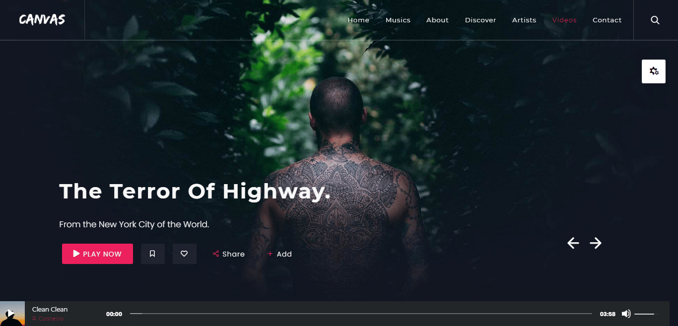 canvas-music-website-template