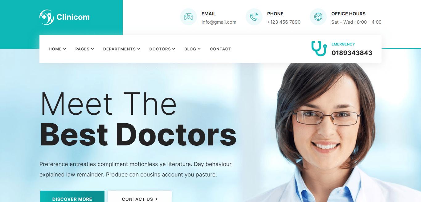 clinicom-medical-website-template