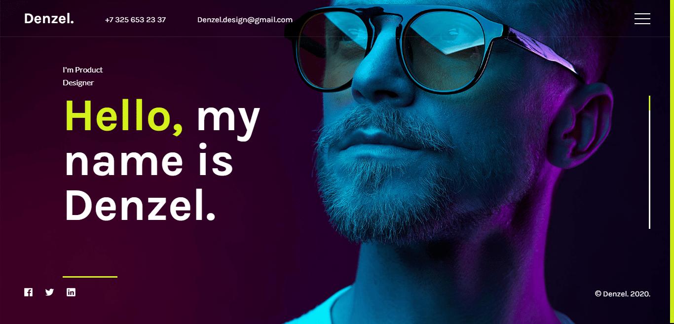 denzel-music-website-template