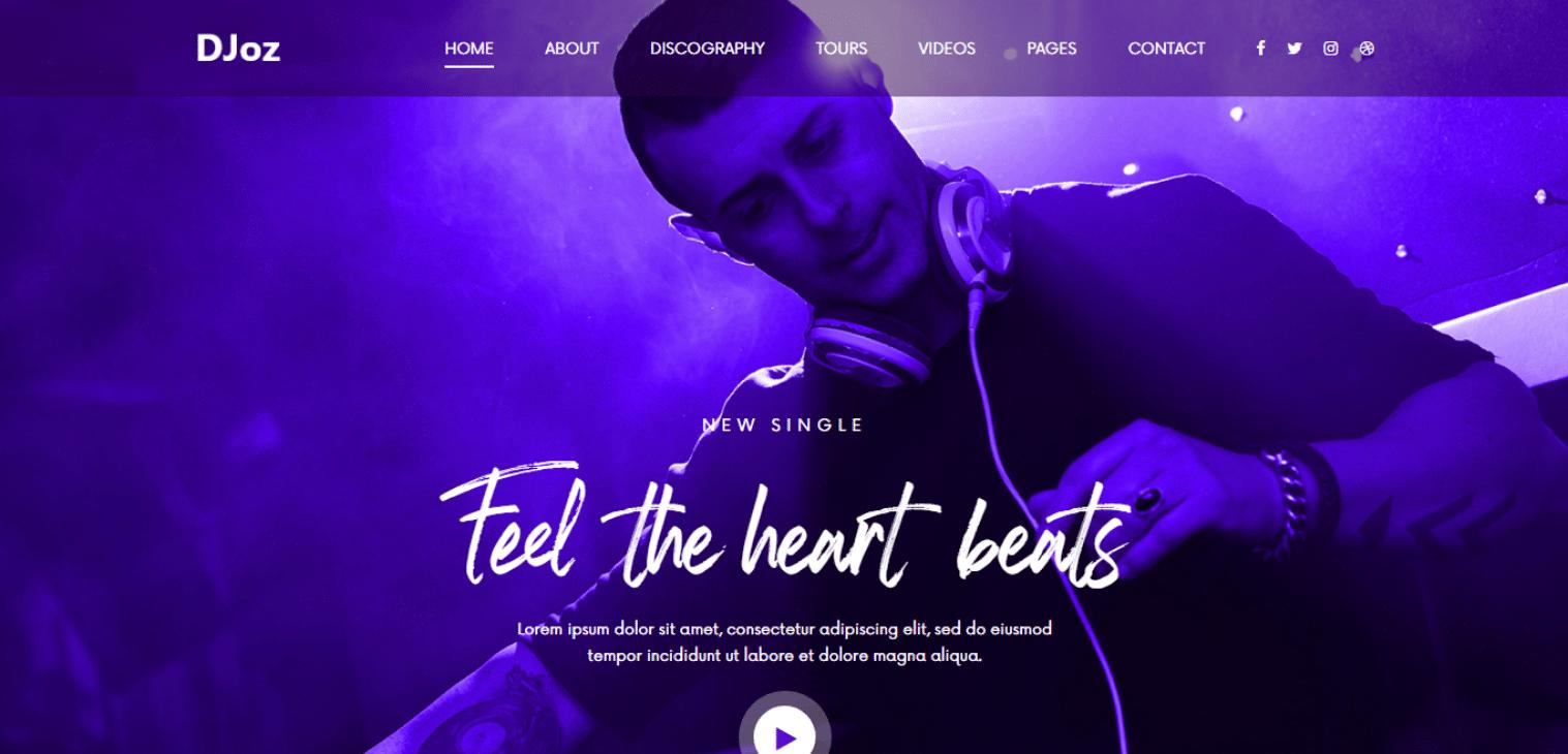 djoz-free-music-website-template